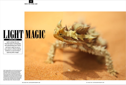 Light Magic - Australian Photography Magazine  -  August 2021