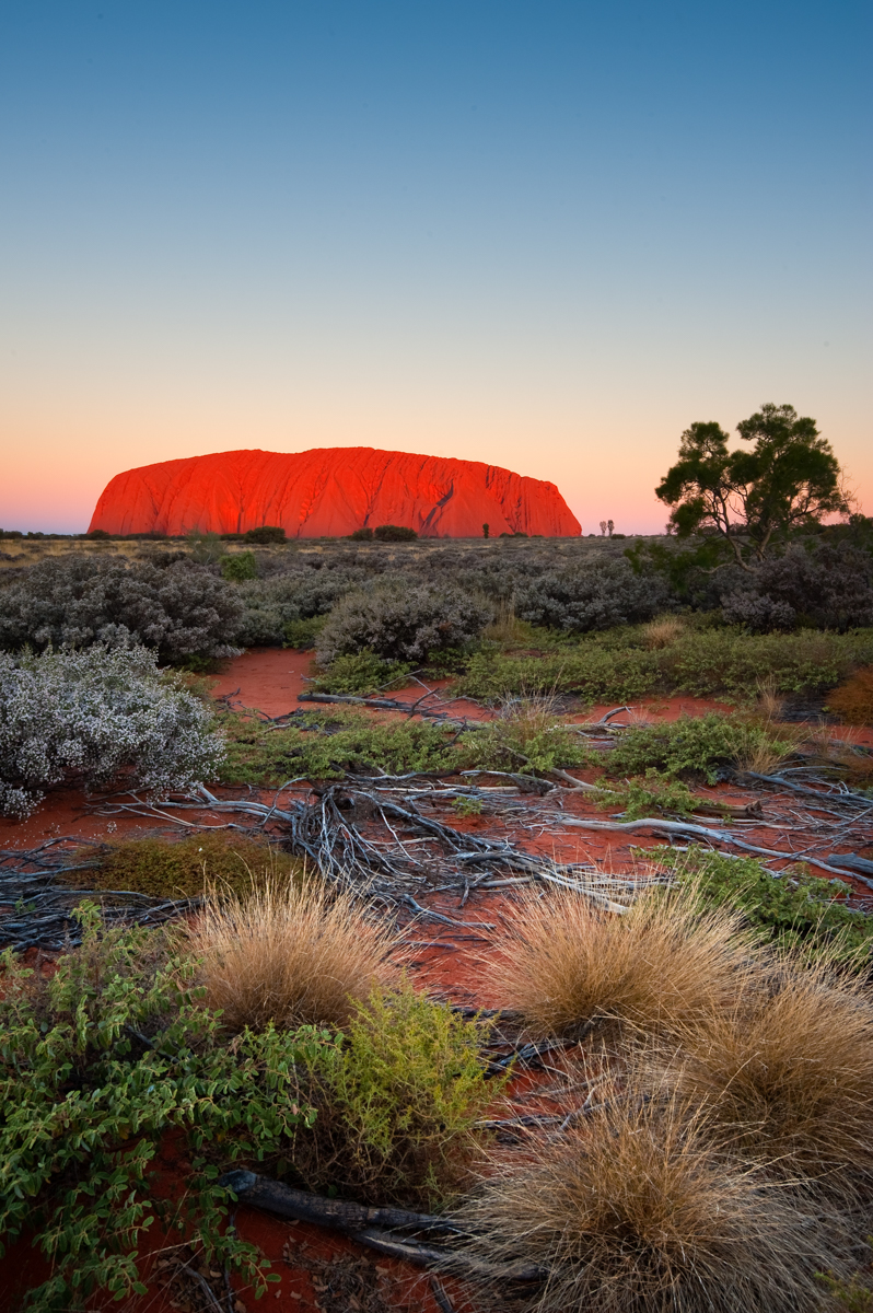 Uluru at sunset - Northern Territory