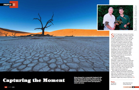 Capturing the Moment - Creative Artist Magazine - January 2016