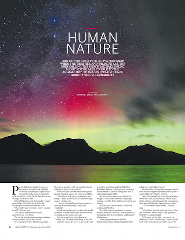 Human Nature Gold Coast Eye magazine June 2015