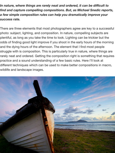 Photo Tip of the Week: Compositions in Nature (Part 1) Australian Photography Online 19 May 2014