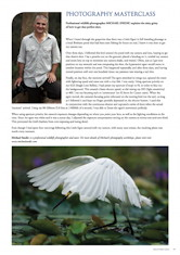 Photography Masterclass – Little Egret Australian Birdlife – Vol. 1.4 – Dec. 2012